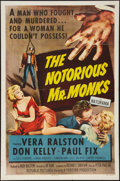 "Movie Posters:Crime, The Notorious Mr. Monks (Republic, 1958). One Sheet (27"" X 41"").Crime.. ..."