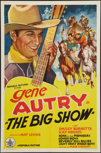 "The Big Show (Republic, R-Late 1930s). Stock One Sheet (27"" X 41""). Western"