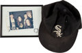 Music Memorabilia:Autographs and Signed Items, Pearl Jam Related - Dave Abbruzzese's White Sox Cap and Signed SNL Photo....
