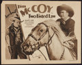 """Movie Posters:Western, Two Fisted Law (Columbia, 1932). Half Sheet (22"""" X 28"""") Style A. Western.. ..."""