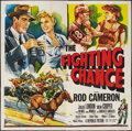"Movie Posters:Sports, The Fighting Chance (Republic, 1955). Six Sheet (81"" X 81"") Flat Folded. Sports.. ..."