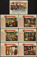 "Movie Posters:Adventure, Samson and Delilah and Other Lot (Paramount, R-1959). Title LobbyCard & Lobby Cards (6) (11"" X 14""). Adventure.. ... (Total: 7Items)"