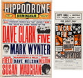Music Memorabilia:Posters, Dave Clark Five Poster and Handball Group (1964).... (Total: 2 Items)
