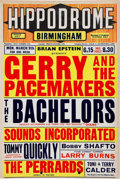 Music Memorabilia:Posters, Gerry and the Pacemakers Poster (1964)....