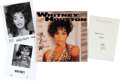 Movie/TV Memorabilia:Autographs and Signed Items, A Whitney Houston Signed Note, Circa 1990s.... (Total: 4 Items)