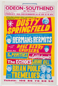 Music Memorabilia:Posters, Dusty Springfield Odeon-Southend Concert Poster....