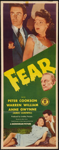 "Movie Posters:Film Noir, Fear (Monogram, 1946). Insert (14"" X 36""). Film Noir.. ..."