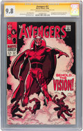 Silver Age (1956-1969):Superhero, The Avengers #57 Signature Series (Marvel, 1968) CGC NM/MT 9.8Off-white to white pages....