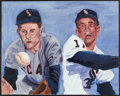 Baseball Collectibles:Others, Nellie Fox And Luis Aparicio Original Painting. ...