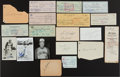 Autographs:Others, Baseball Greats Signed Postcards, Index Cards And Miscellaneous....