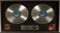 Music Memorabilia:Awards, Waylon Jennings Greatest Hits RIAA Double-Platinum AlbumAward....