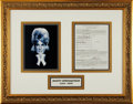 Music Memorabilia:Autographs and Signed Items, Dusty Springfield Signed Agreement Wall Display....