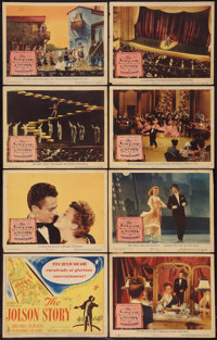 "The Jolson Story (Columbia, 1946). Lobby Card Set of 8 (11"" X 14""). Drama. ... (Total: 8 Items)"