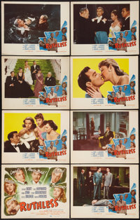 "Ruthless (Eagle Lion, 1948). Lobby Card Set of 8 (11"" X 14""). Film Noir"