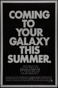 "Movie Posters:Science Fiction, Star Wars (20th Century Fox, 1977). One Sheet (27"" X 41"") MylarSecond Advance. Science Fiction.. ..."