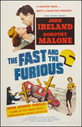 "Movie Posters:Action, The Fast and the Furious (American Releasing Corp., 1954). One Sheet (27"" X 41""). Action.. ..."