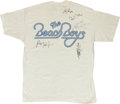 Music Memorabilia:Autographs and Signed Items, Beach Boys Band-Signed T-Shirt....