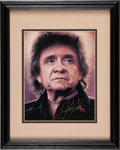 Music Memorabilia:Autographs and Signed Items, Johnny Cash Autographed Photo....