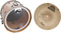 Music Memorabilia:Instruments , Pearl Jam Related - Dave Abbruzzese's Personally Owned and Studio-Used Bass Drum and a Signed Cymbal. ...