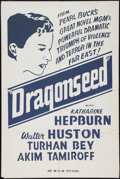"Movie Posters:War, Dragon Seed (MGM, 1944). Silk Screen Canadian One Sheet (28"" X42""). War.. ..."