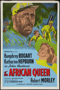 """Movie Posters:Adventure, The African Queen (Romulus, R-1950s). British One Sheet (27"""" X40.5""""). Adventure.. ..."""