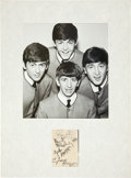 Music Memorabilia:Autographs and Signed Items, Beatles Autograph Display (1962)....