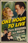 """Movie Posters:Drama, One Hour to Live (Universal, 1939). One Sheet (27"""" X 41""""). Drama....."""