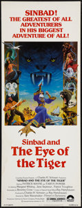 "Movie Posters:Fantasy, Sinbad and the Eye of the Tiger (Columbia, 1977). Insert (14"" X36""). Fantasy.. ..."