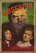 "Movie Posters:Thriller, Ossessione (Pan European Film, Early 1950s). Argentinean Poster(29"" X 43""). Thriller.. ..."