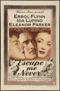 "Movie Posters:Drama, Escape Me Never (Warner Brothers, 1948). One Sheet (27"" X 41""). Drama.. ..."