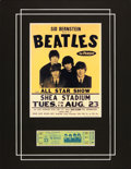 Music Memorabilia:Tickets, Beatles Shea Stadium Unused Concert Ticket....