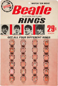 Music Memorabilia:Autographs and Signed Items, Beatles Vintage Flicker Rings Display (1964)....