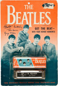 Music Memorabilia:Memorabilia, Beatles Harmonica Vintage Display....