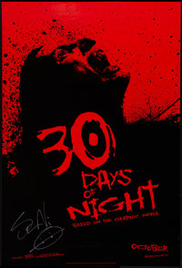"30 Days of Night and Other Lot (Columbia, 2007). Autographed Advance One Sheet (27"" X 39.5"") and One Sheet (27..."