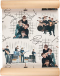 Music Memorabilia:Memorabilia, Beatles Vintage Wallpaper Roll (1964)....