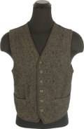 "Movie/TV Memorabilia:Costumes, A Steve McQueen Period Vest from ""An Enemy of the People.""..."