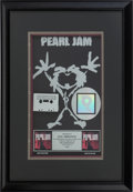 Music Memorabilia:Awards, Dave Abbruzzese's Pearl Jam Ten Multi-Platinum RIAAAward....