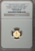 Expositions and Fairs, 1909 Alaska-Yukon-Pacific Exposition, 1/2 DWT Alaska Gold MS62 NGC. Ex: Hart's Coins Of The West. Seattle, WA....