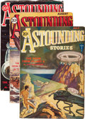 Pulps:Science Fiction, Astounding Stories - July-September 1931 Group (Street & Smith,1931) Condition: Average VG.... (Total: 3 Items)