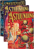 Pulps:Science Fiction, Astounding Stories - October-December 1931 Group (Street &Smith, 1931) Condition: Average VG+.... (Total: 3 Items)