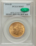 Indian Eagles: , 1914-D $10 MS62 PCGS. CAC. PCGS Population (683/572). NGC Census:(673/421). Mintage: 343,500. Numismedia Wsl. Price for pr...