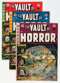 Golden Age (1938-1955):Horror, Vault of Horror #27 and 34-36 Group (EC, 1952-54) Condition:Average VG+.... (Total: 4 Comic Books)