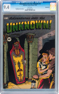 Golden Age (1938-1955):Horror, Adventures Into The Unknown #3 Diamond Run pedigree (ACG, 1949) CGCNM 9.4 White pages....