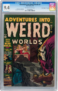 "Golden Age (1938-1955):Horror, Adventures Into Weird Worlds #5 Davis Crippen (""D"" Copy) pedigree(Atlas, 1952) CGC NM 9.4 Off-white to white pages...."
