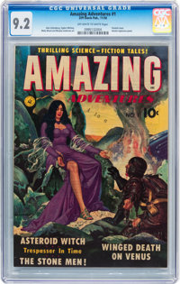 Amazing Adventures #1 (Ziff-Davis, 1950) CGC NM- 9.2 Off-white to white pages