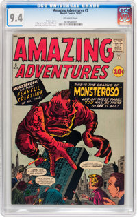 Amazing Adventures #5 (Marvel, 1961) CGC NM 9.4 Off-white pages