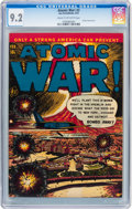 Golden Age (1938-1955):War, Atomic War! #3 (Ace, 1953) CGC NM- 9.2 Cream to off-white pages....