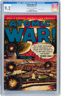 Atomic War! #3 (Ace, 1953) CGC NM- 9.2 Cream to off-white pages