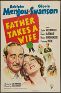 "Movie Posters:Comedy, Father Takes a Wife (RKO, 1941). One Sheet (27"" X 41""). Comedy....."
