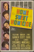 """Movie Posters:Comedy, Home Sweet Homicide (20th Century Fox, 1945). One Sheet (27"""" X 41""""). Comedy.. ..."""